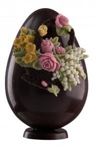 oeufs-de-Pâques-chocolat-fleurs-roses